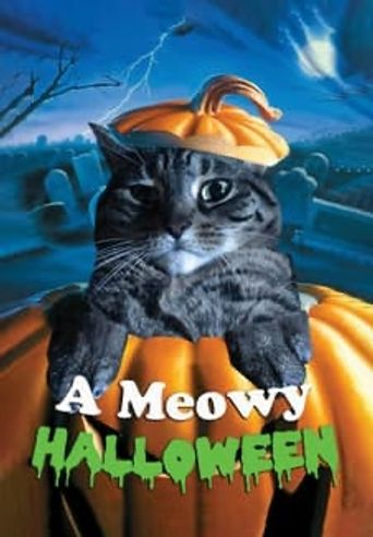 A Meowy Halloween Poster