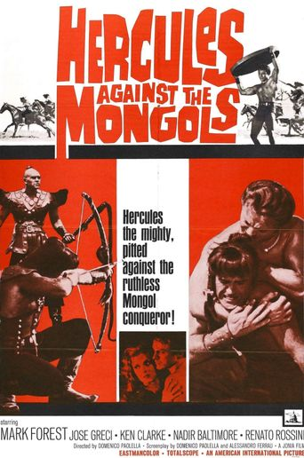 Hercules Against the Mongols Poster