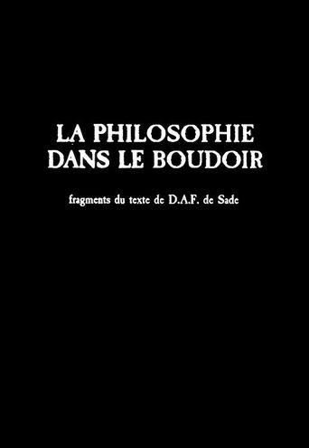 La philosophie dans le boudoir Poster