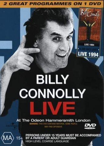 Billy Connolly - Live at the Odeon Hammersmith London Poster