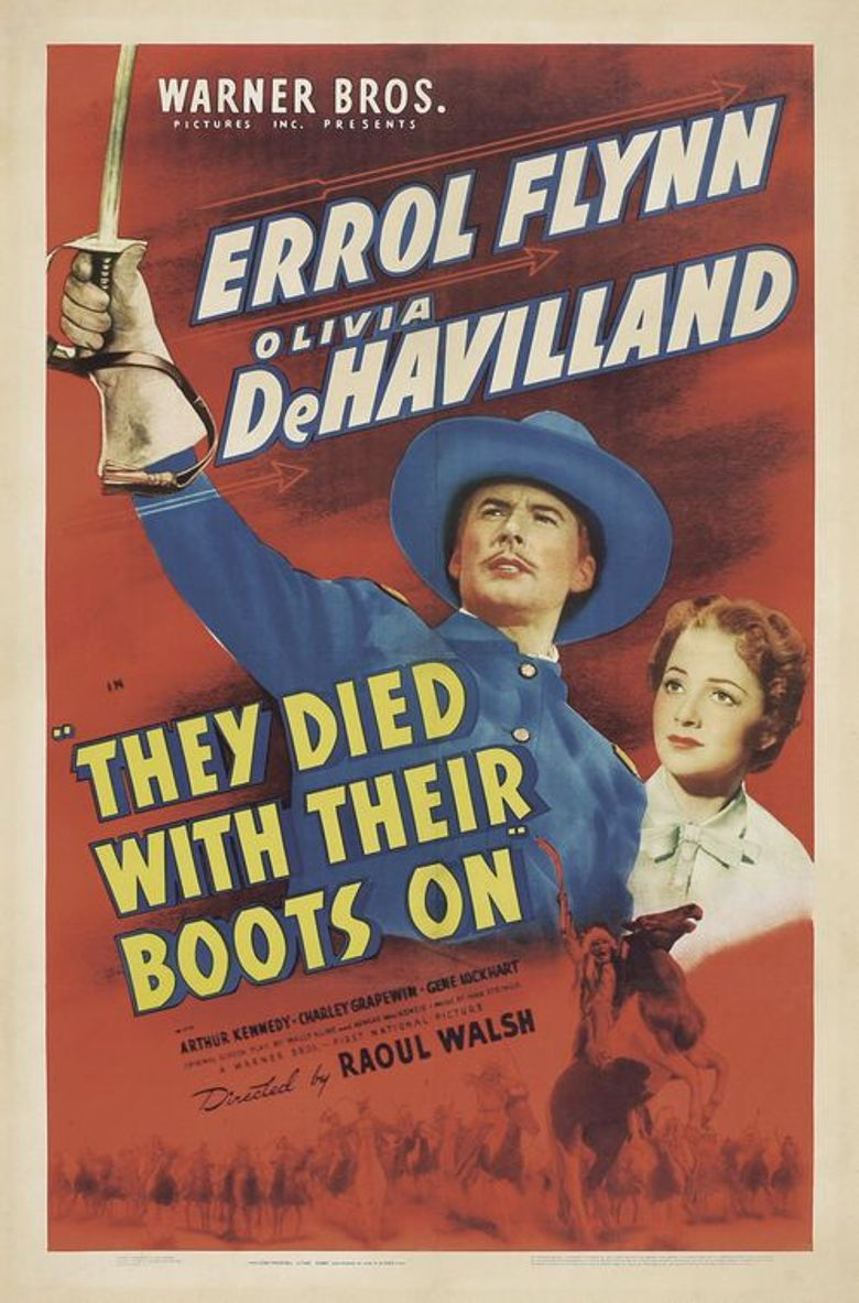 They Died with Their Boots On Poster
