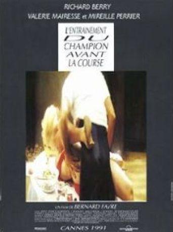 L'entraînement du champion avant la course Poster