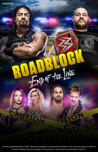 WWE Roadblock: End of the Line 2016 Poster
