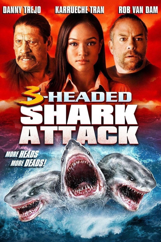 3-Headed Shark Attack Poster