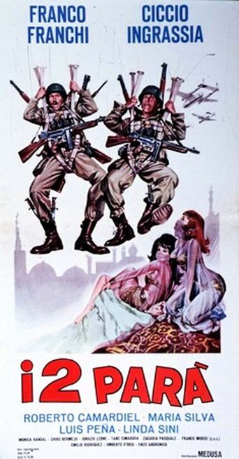 The Two Parachutists Poster