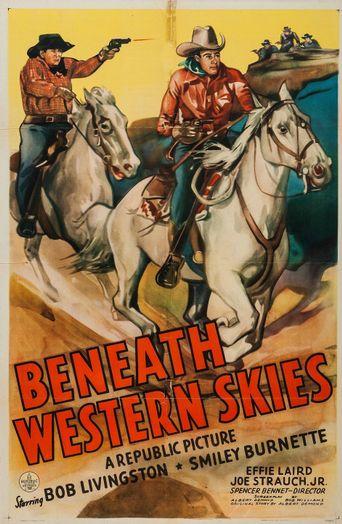 Beneath Western Skies Poster