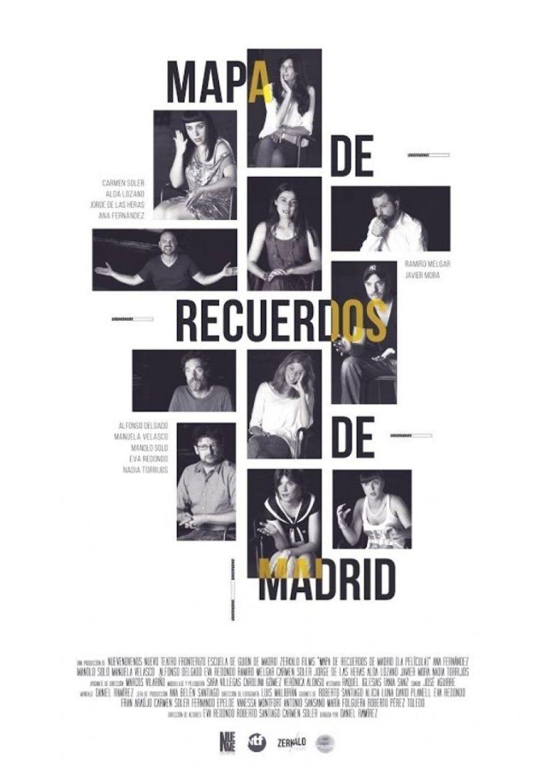 Map of Memories of Madrid Poster