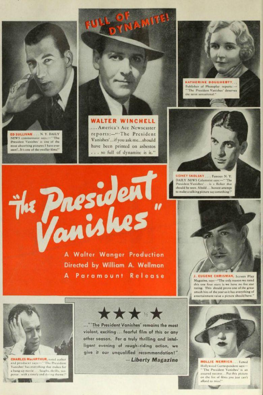 The President Vanishes Poster