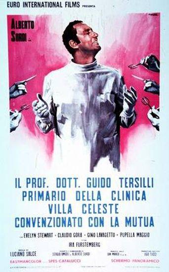 Il prof. Dott. Guido Tersilli, primario della clinica Villa Celeste convenzionata con le mutue Poster