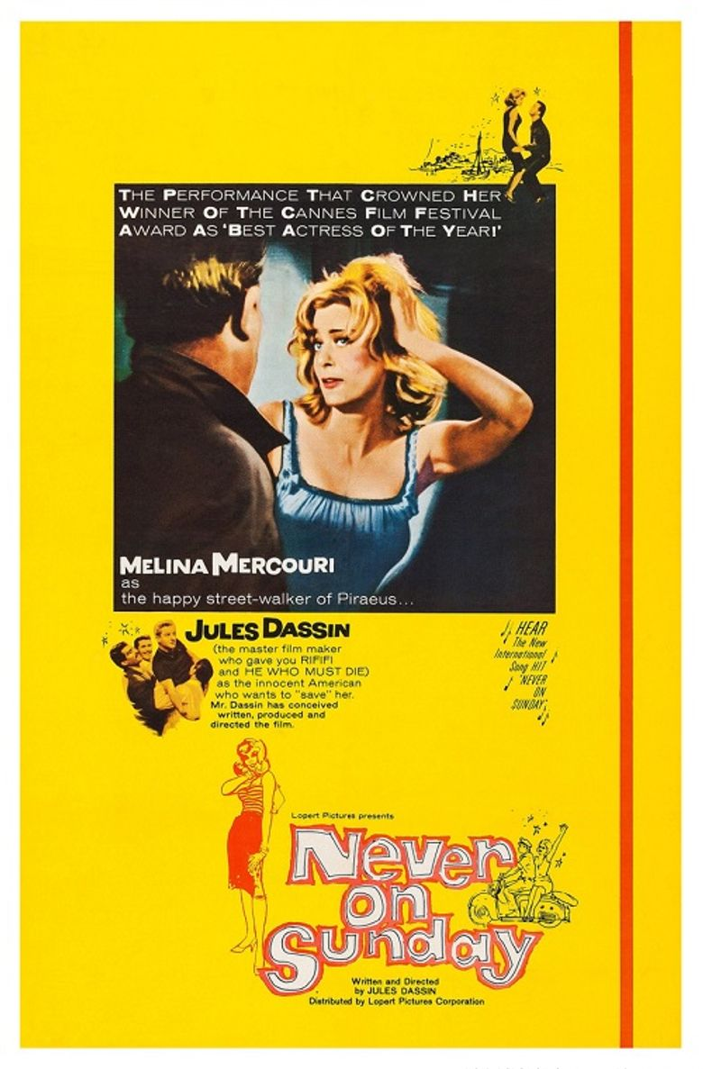 Never on Sunday Poster
