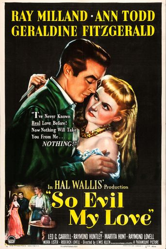 So Evil My Love Poster