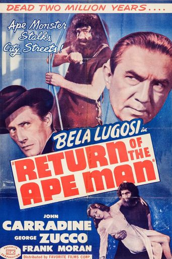 Return of the Ape Man Poster