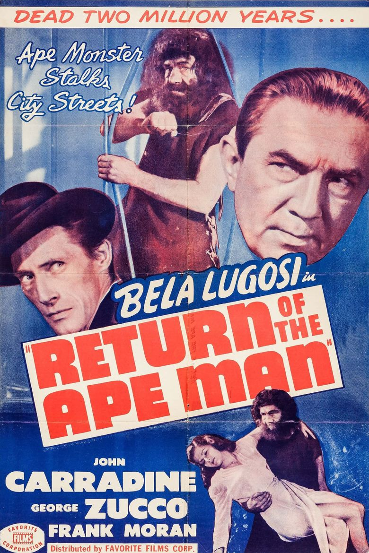 Return of the Ape Man Poster