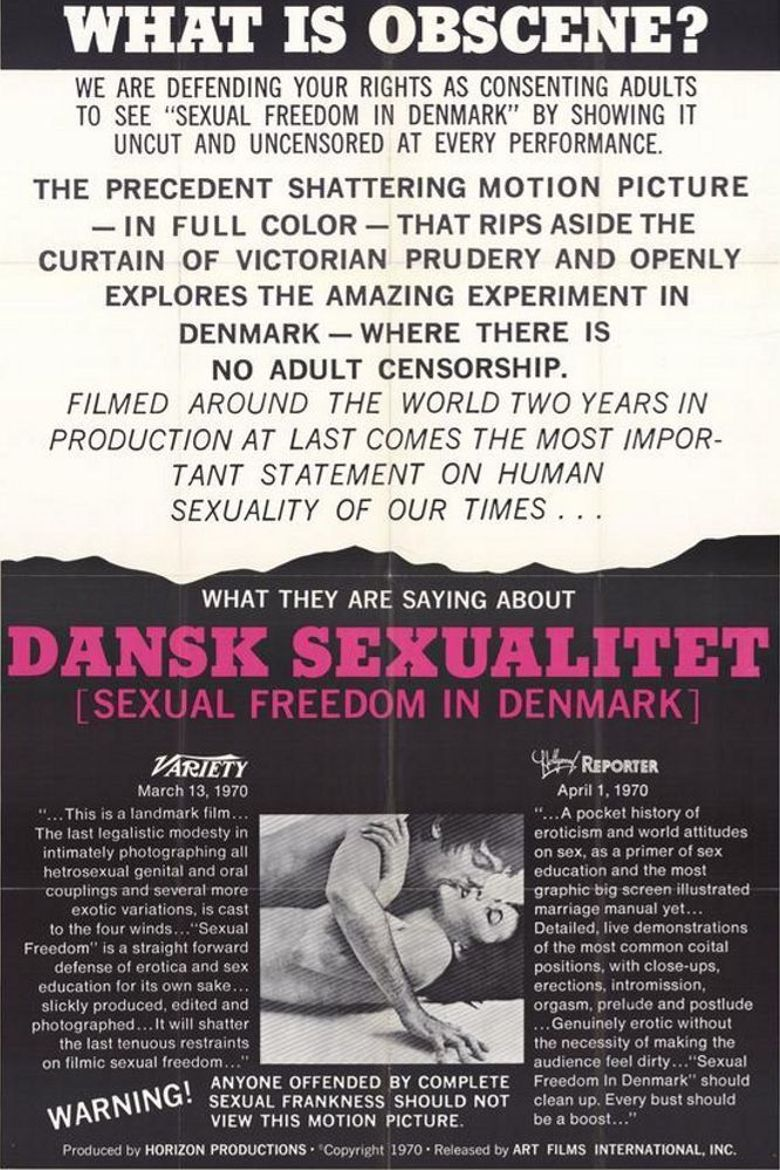 Sexual Freedom in Denmark Poster