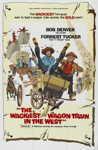 The Wackiest Wagon Train In The West Poster