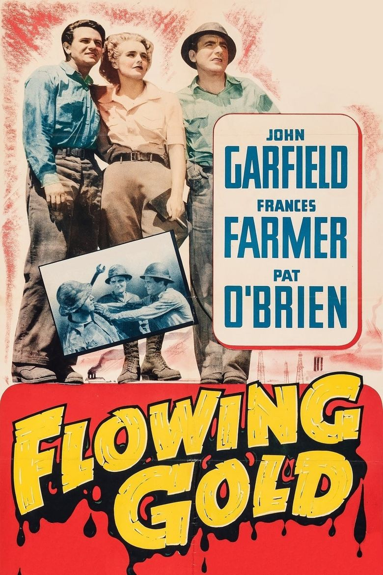 Flowing Gold Poster
