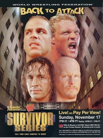 WWE Survivor Series 1996 Poster
