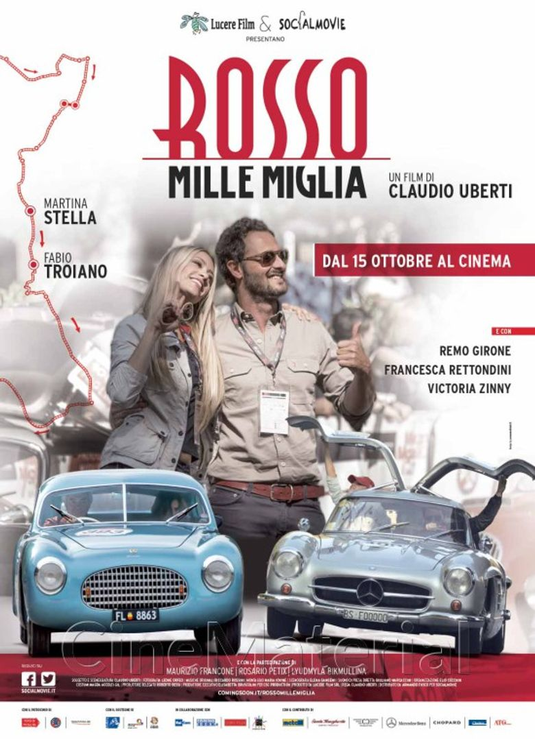 Red Thousand Miles race Poster