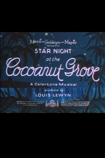 Star Night at the Cocoanut Grove Poster