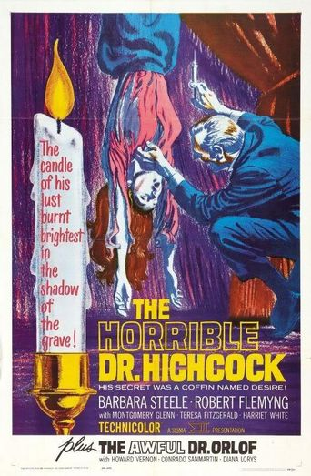 The Horrible Dr. Hichcock Poster