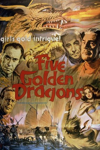 Five Golden Dragons Poster