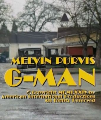 Melvin Purvis G-Man Poster