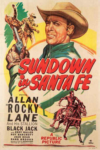 Sundown in Santa Fe Poster