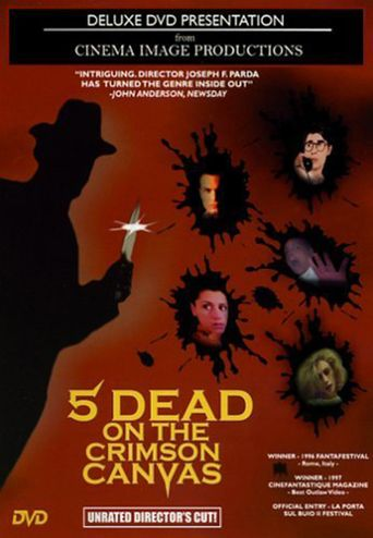 5 Dead on the Crimson Canvas Poster