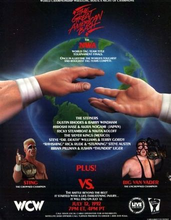 WCW The Great American Bash 1992 Poster