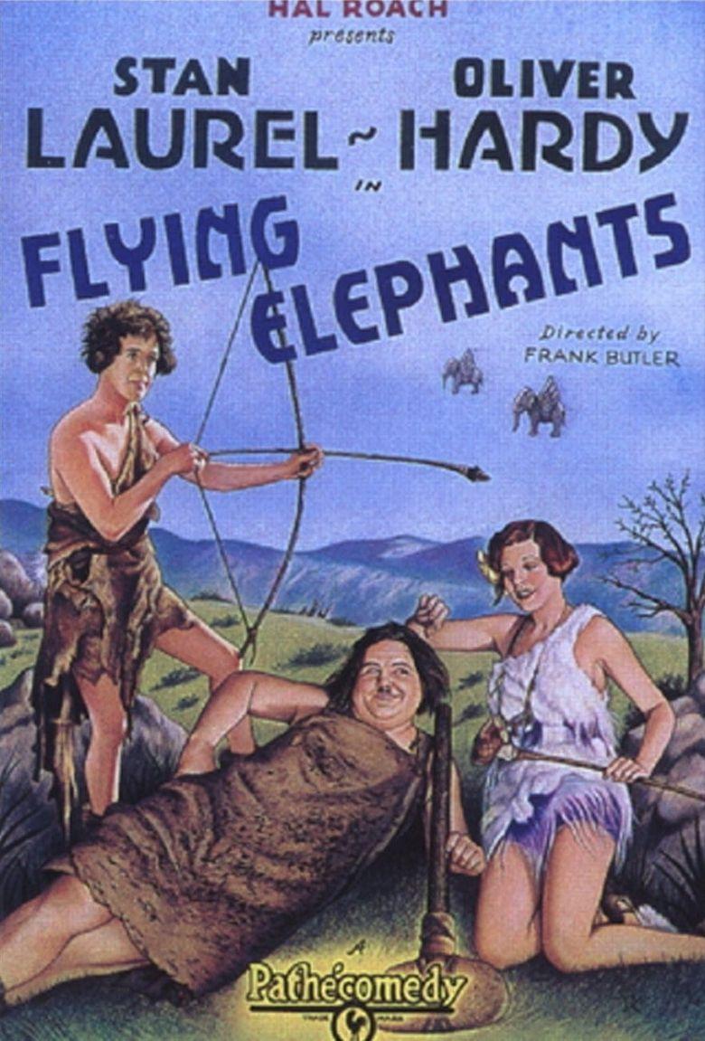 Flying Elephants Poster