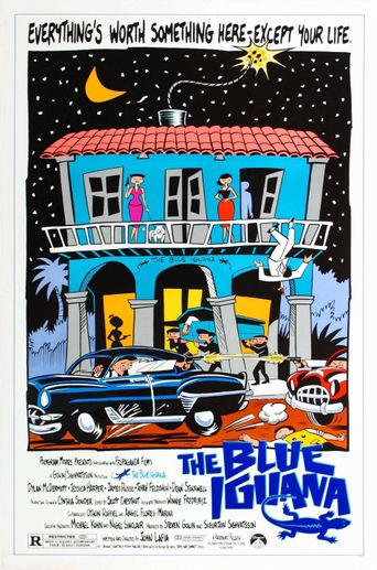 The Blue Iguana Poster