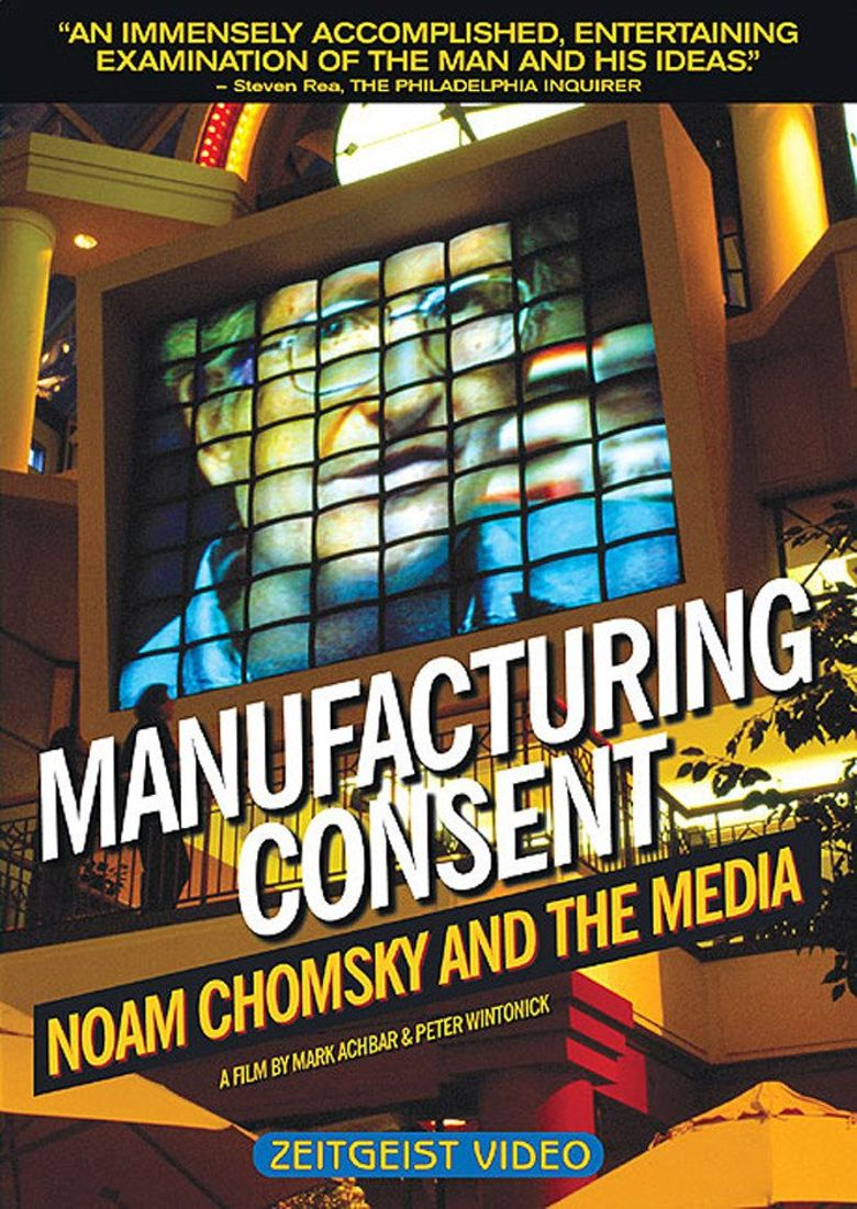 Manufacturing Consent: Noam Chomsky and the Media Poster