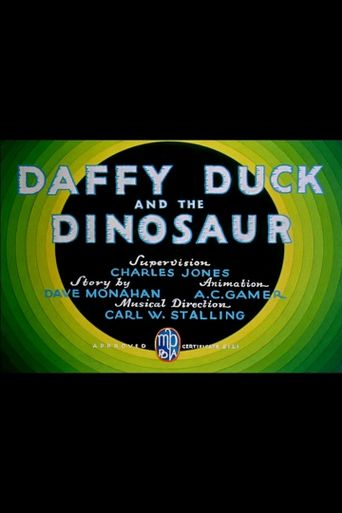 Daffy Duck and the Dinosaur Poster