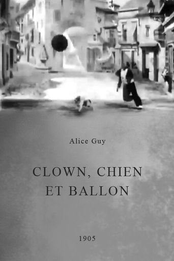 Clown, Dog and Balloon Poster