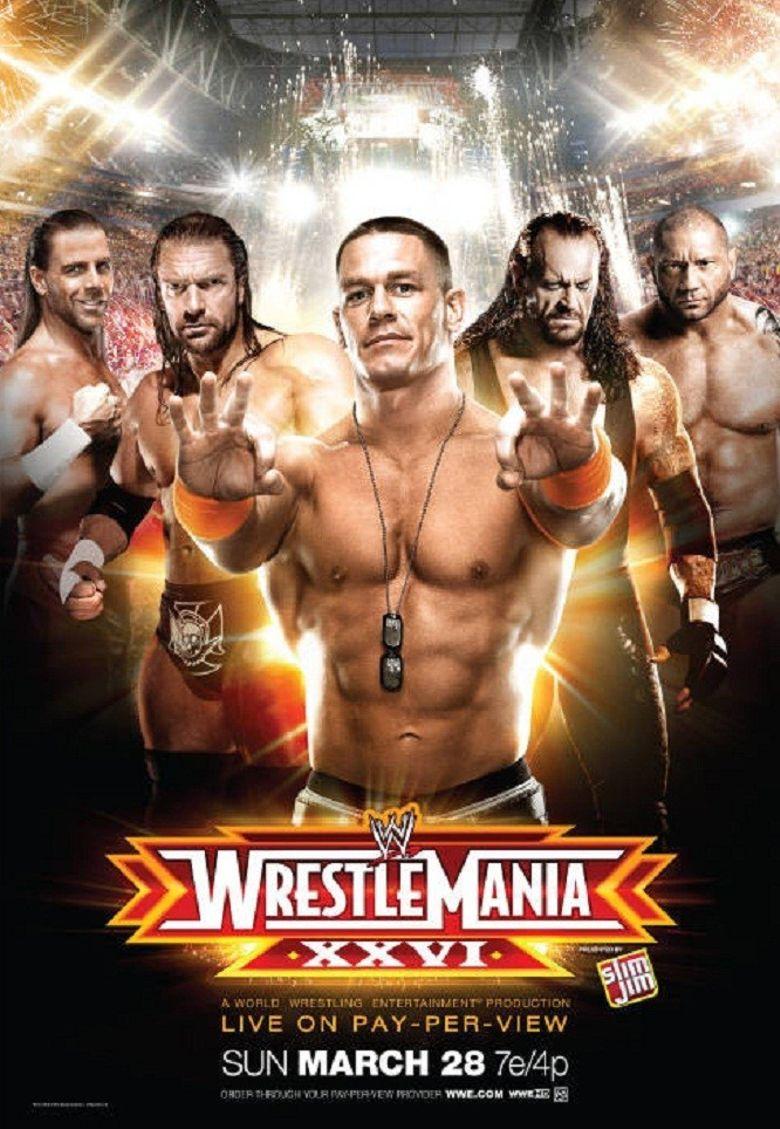 WWE Wrestlemania XXVI Poster