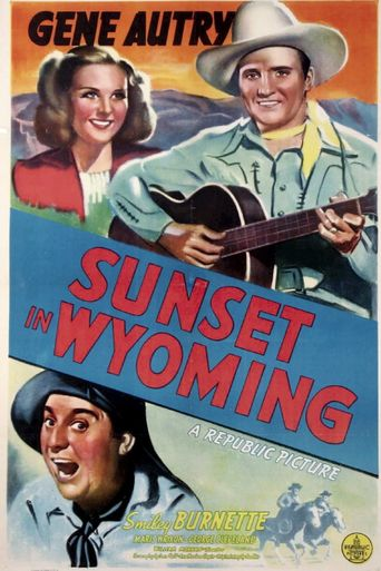 Sunset in Wyoming Poster