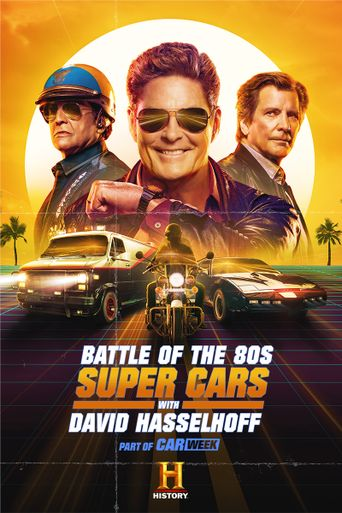 Battle of the 80s Supercars with David Hasselhoff Poster