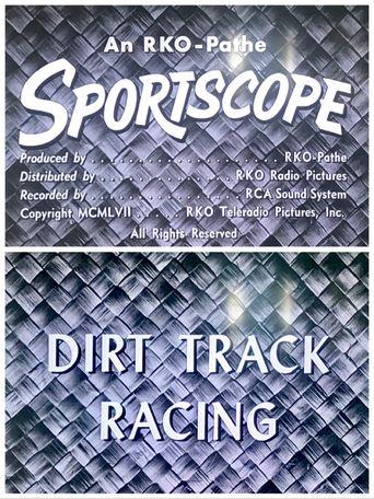 Dirt Track Racing Poster