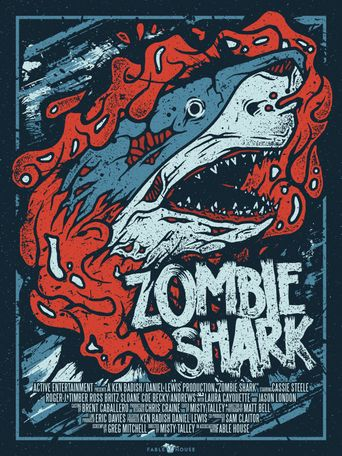 Zombie Shark Poster