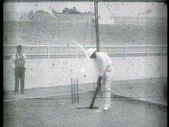 Prince Ranjitsinhji Practising Batting in the Nets Poster