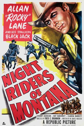 Night Riders of Montana Poster