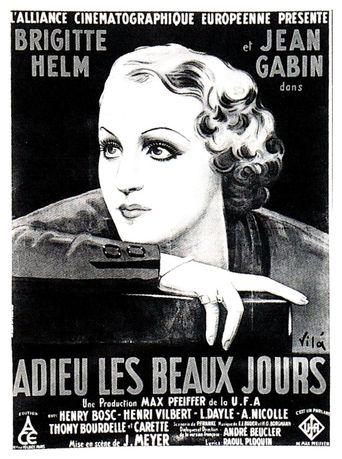Adieu les beaux jours Poster
