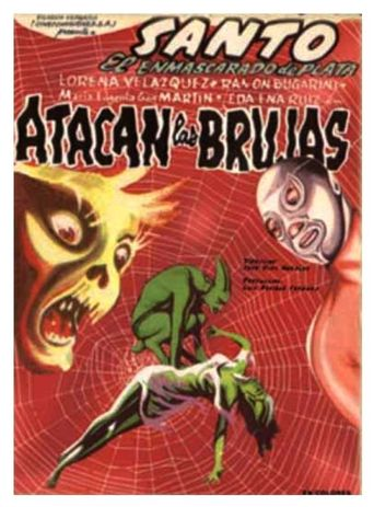 Santo Attacks the Witches Poster