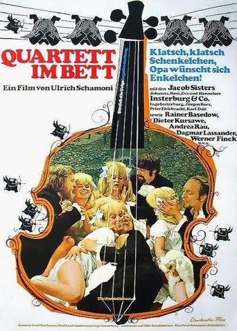 Quartett im Bett Poster
