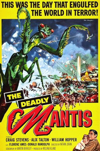 The Deadly Mantis Poster