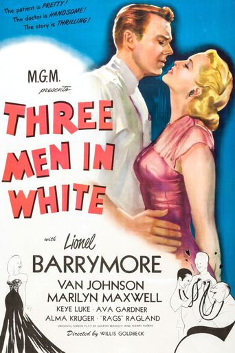 3 Men in White Poster
