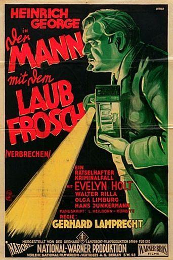 Der Mann mit dem Laubfrosch Poster