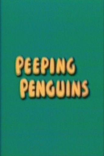 Peeping Penguins Poster