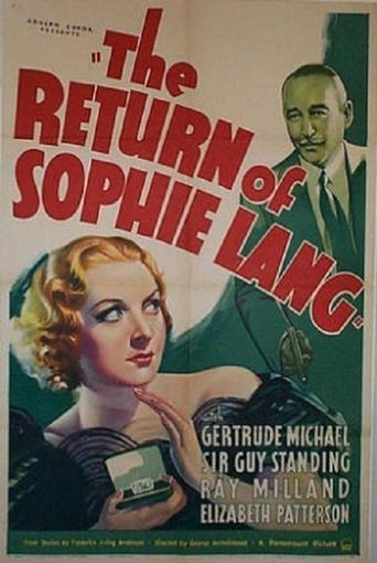 The Return of Sophie Lang Poster