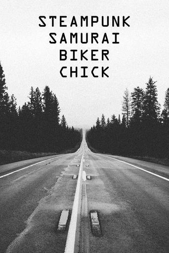Steampunk Samurai Biker Chick Poster